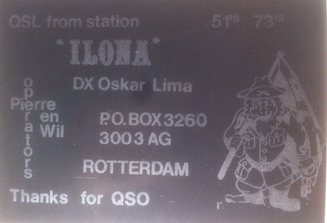 My first QSL during the 70s
